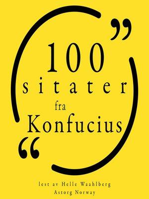 cover image of 100 sitater fra Confucius