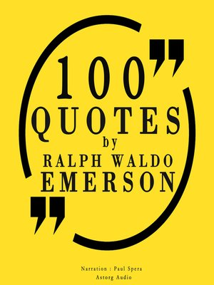 cover image of 100 Quotes by Ralph Waldo Emerson