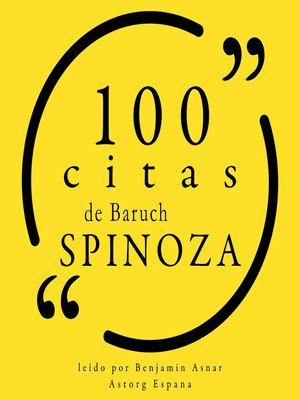 cover image of 100 citas de Baruch Spinoza