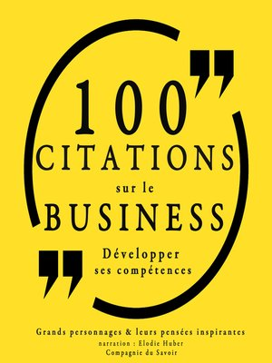 cover image of 100 citations sur le business