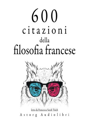 cover image of 600 citazioni della filosofia francese