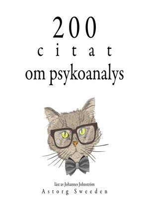cover image of 200 citat om psykoanalys