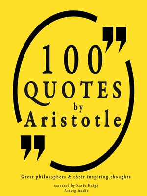 cover image of 100 Quotes by Aristotle