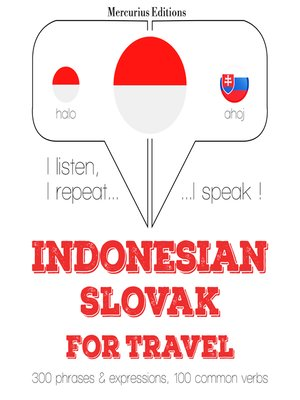 cover image of Indonesian-Slovak: For travel