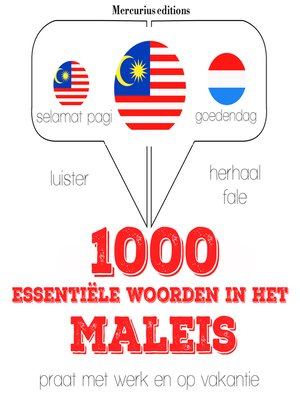 cover image of 1000 essentiële woorden in het Maleis