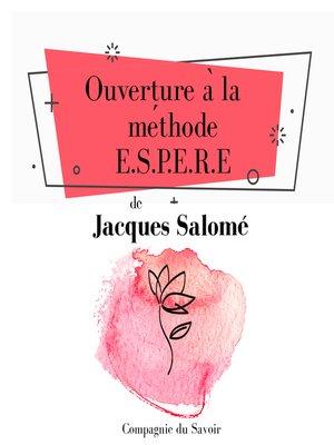 cover image of Ouverture à la méthode ESPERE