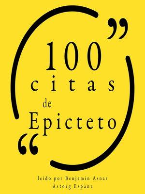 cover image of 100 citas de Epicteto