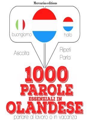 cover image of 1000 parole essenziali in Olandese