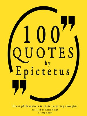 cover image of 100 Quotes by Epictetus