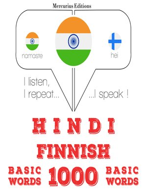 cover image of Hindi-Finnish: 1000 basic words