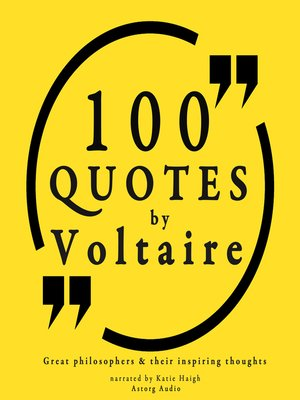 cover image of 100 Quotes by Voltaire