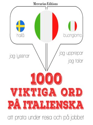 cover image of 1000 viktiga ord på italienska