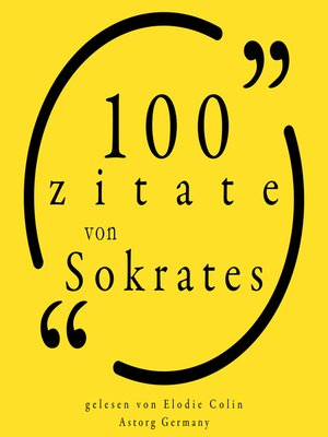 cover image of 100 Zitate aus Sokrates