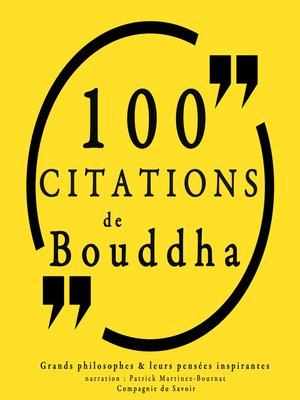 cover image of 100 citations de Bouddha