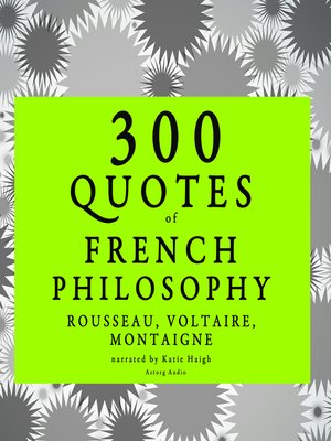 cover image of French Philosophy