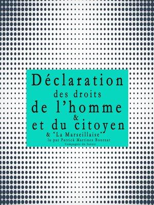 cover image of La déclaration des droits de l'Homme et du Citoyen