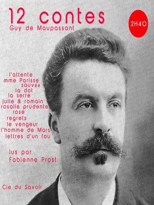 cover image of 12 contes de Maupassant