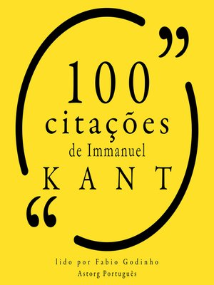 cover image of 100 citações de Immanuel Kant