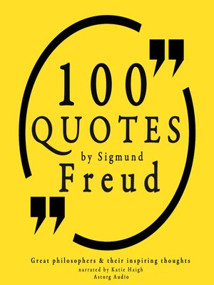 cover image of 100 Quotes by Sigmund Freud, Creator of Psychoanalysis