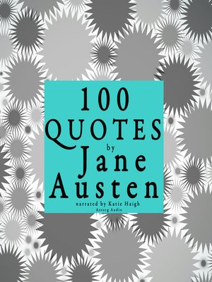 cover image of 100 Quotes by Jane Austen