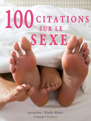 cover image of 100 citations sur le sexe