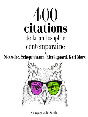 cover image of 400 citations de la philosophie contemporaine