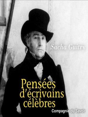cover image of Pensées d'écrivains célèbres