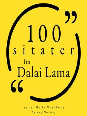 cover image of 100 sitater fra Dalai Lama