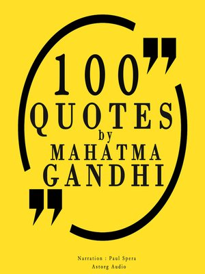 cover image of 100 Quotes by Mahatma Gandhi