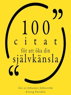cover image of 100 citat för att bygga förtroende