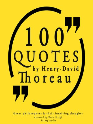cover image of 100 Quotes by Henry David Thoreau