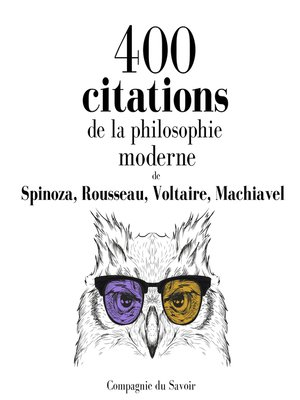 cover image of 400 citations de la philosophie moderne