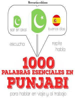 cover image of 1000 palabras esenciales en punjabi