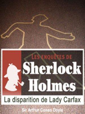 cover image of La disparition de Lady Carfax