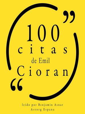 cover image of 100 citas de Emil Cioran