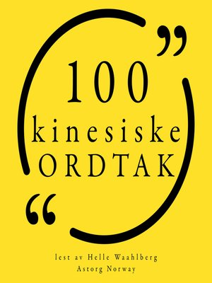 cover image of 100 kinesiske ordtak