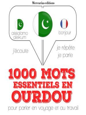 cover image of 1000 mots essentiels en ourdou