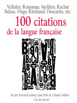 cover image of Cent citations de la langue française