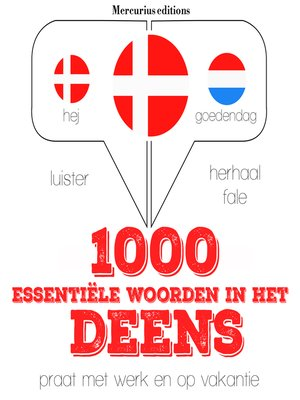 cover image of 1000 essentiële woorden in het Deens