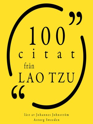 cover image of 100 citat från Lao Tzu