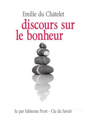 cover image of Discours sur le bonheur
