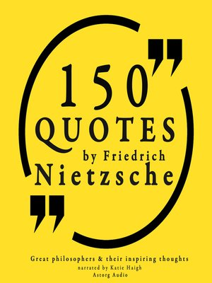 cover image of 150 Quotes by Friedrich Nietzsche