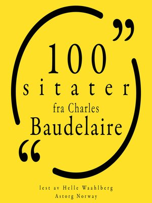 cover image of 100 sitater fra Charles Baudelaire