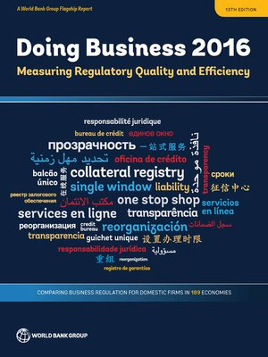 cover image of Doing Business 2016