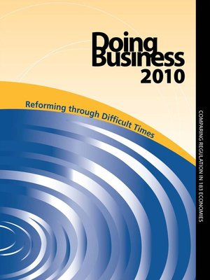 cover image of Doing Business 2010