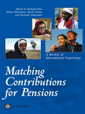 cover image of Matching Contributions for Pensions