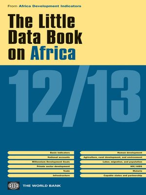 cover image of The Little Data Book on Africa 2012/2013