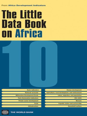 cover image of The Little Data Book on Africa 2010