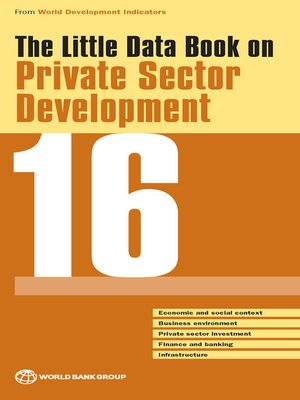 cover image of The Little Data Book on Private Sector Development 2016
