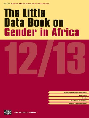 cover image of The Little Data Book on Gender in Africa 2012/2013